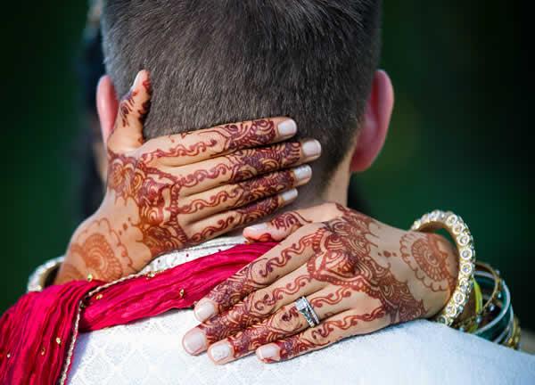 Stroudsmoor Country Inn - Stroudsburg - Wedding Resort - Bride With Henna Showing Wedding Rings