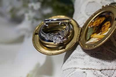 Stroudsmoor Country Inn - Stroudsburg - Poconos - Real Weddings - Wedding Rings With Framed Photo