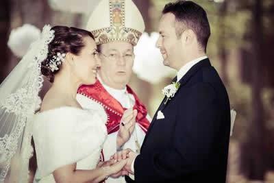 Stroudsmoor Country Inn - Stroudsburg - Poconos - Real Weddings - Bride And Groom Being Blessed