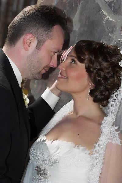 Stroudsmoor Country Inn - Stroudsburg - Poconos - Real Weddings - Bride And Groom Gazing Into Each Others Eyes
