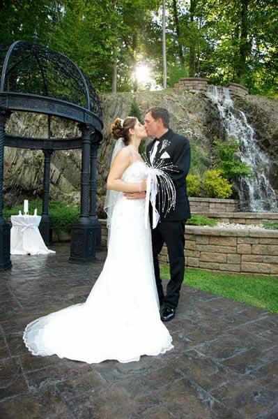 Stroudsmoor Country Inn - Stroudsburg - Poconos - Real Weddings - Bride And Groom Near Gazebo