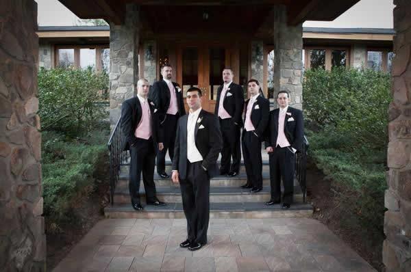 Stroudsmoor Country Inn - Stroudsburg - Poconos - Real Weddings - Groom And Groomsmen