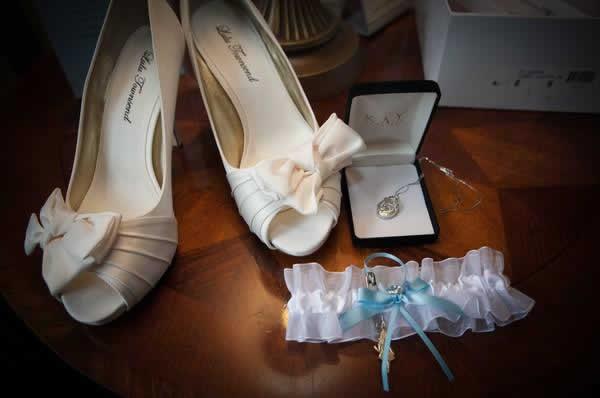 Stroudsmoor Country Inn - Stroudsburg - Poconos - Real Weddings - Brides Garter, Shoes, And Necklace