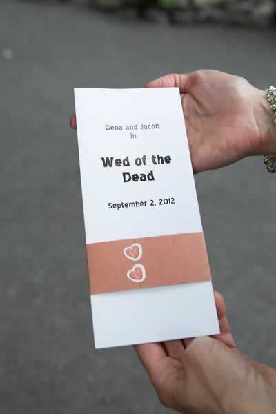 Stroudsmoor Country Inn - Stroudsburg - Poconos - Real Weddings - Zombie Theme - Wedding Invite