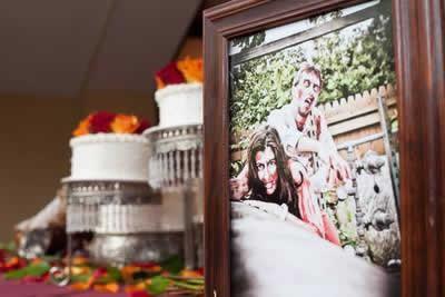 Stroudsmoor Country Inn - Stroudsburg - Poconos - Real Weddings - Zombie Theme - Bride And Groom Framed Wedding Picture