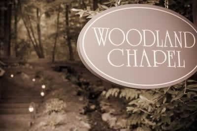Stroudsmoor Country Inn - Stroudsburg - Poconos - Real Weddings - Entrance To Woodland Chapel