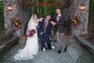 Stroudsmoor Country Inn - Stroudsburg - Poconos - Real Weddings - Zombie Theme - Bride, Groom, Best Man
