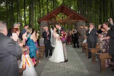 Stroudsmoor Country Inn - Stroudsburg - Poconos - Real Weddings - Outdoor Wedding Ceremony