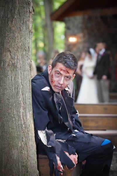 Stroudsmoor Country Inn - Stroudsburg - Poconos - Real Weddings - Zombie Theme