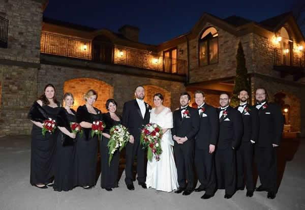 Stroudsmoor Country Inn - Stroudsburg - Poconos - Real Weddings - Bride, Groom, Bridesmaids, And Groomsmen