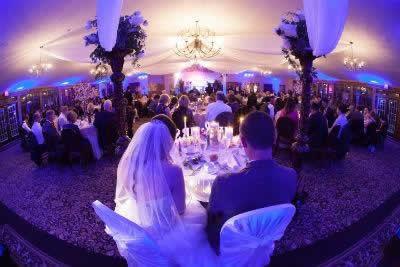 Stroudsmoor Country Inn - Stroudsburg - Poconos - Real Weddings - Romantically Lit Reception Area