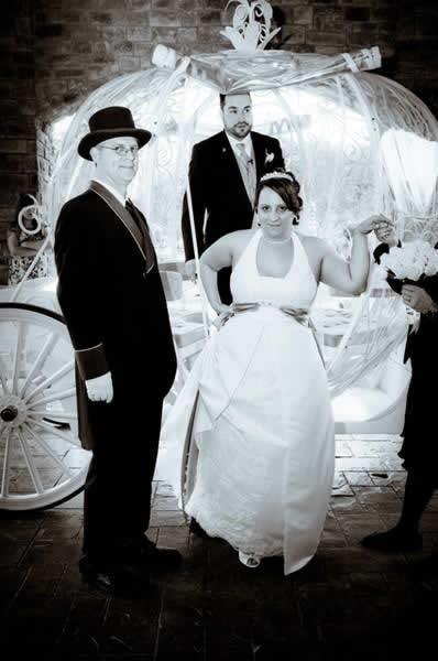 Stroudsmoor Country Inn - Stroudsburg - Poconos - Real Weddings - Bride And Groom Getting Out Of Wedding Carriage