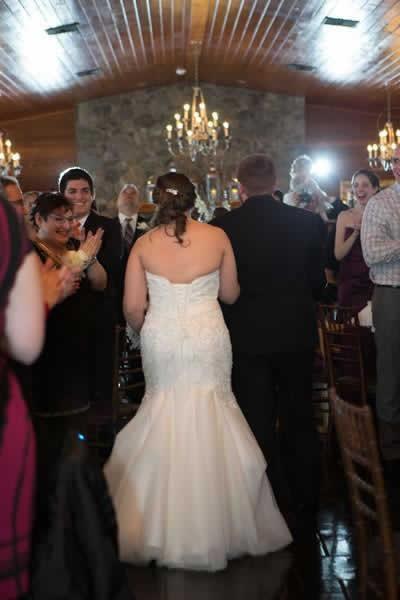 Stroudsmoor Country Inn - Stroudsburg - Poconos - Real Weddings - Bride And Groom Talking With Guests