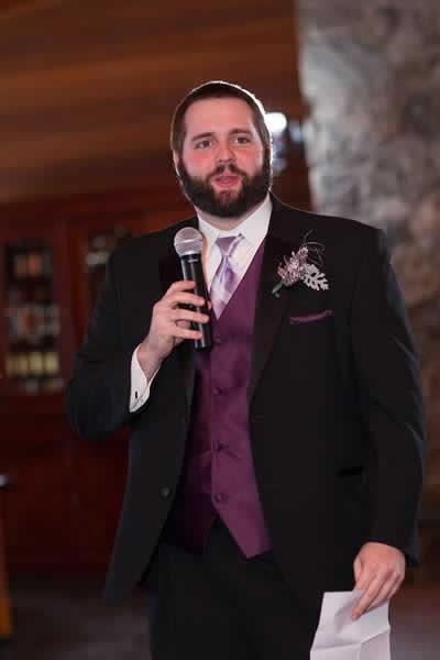 Stroudsmoor Country Inn - Stroudsburg - Poconos - Real Weddings - Best Man Saying A Few Words