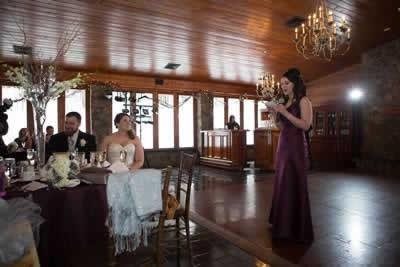 Stroudsmoor Country Inn - Stroudsburg - Poconos - Real Weddings - Maid Of Honor Saying A Few Words