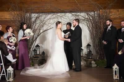 Stroudsmoor Country Inn - Stroudsburg - Poconos - Real Weddings - Bride And Groom Reciting Vows