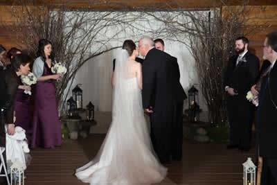 Stroudsmoor Country Inn - Stroudsburg - Poconos - Real Weddings - Bride With Dad Before Ceremony