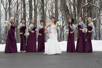 Stroudsmoor Country Inn - Stroudsburg - Poconos - Real Weddings - Bride With Bridesmaids