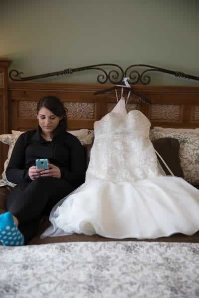 Stroudsmoor Country Inn - Stroudsburg - Poconos - Real Weddings - Bride With Wedding Dress