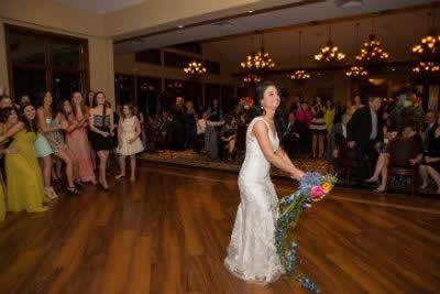 Stroudsmoor Country Inn - Stroudsburg - Poconos - Real Weddings - Bride Throwing Wedding Bouquet