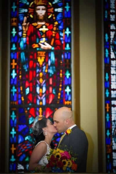 Stroudsmoor Country Inn - Stroudsburg - Poconos - Real Weddings - Bride And Groom In Chapel