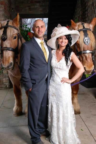 Stroudsmoor Country Inn - Stroudsburg - Poconos - Real Weddings - Bride And Groom With Horses