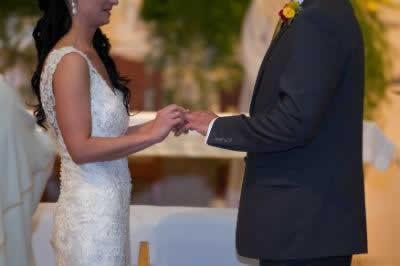 Stroudsmoor Country Inn - Stroudsburg - Poconos - Real Weddings - Bride Puts Ring On Groom