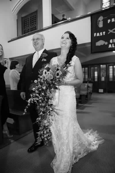 Stroudsmoor Country Inn - Stroudsburg - Poconos - Real Weddings - Father Walking Bride Down Aisle