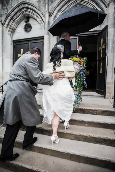 Stroudsmoor Country Inn - Stroudsburg - Poconos - Real Weddings - Bride Entering Chapel