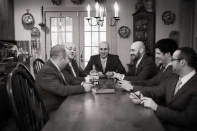 Stroudsmoor Country Inn - Stroudsburg - Poconos - Real Weddings - Groom With Groomsmen