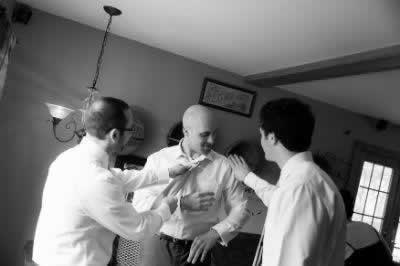 Stroudsmoor Country Inn - Stroudsburg - Poconos - Real Weddings - Groom Preparing For Wedding