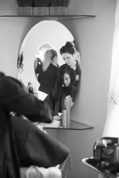Stroudsmoor Country Inn - Stroudsburg - Poconos - Real Weddings - Bride With Hair Stylist