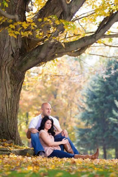 Stroudsmoor Country Inn - Stroudsburg - Poconos - Real Weddings - Bride And Groom Under Tree