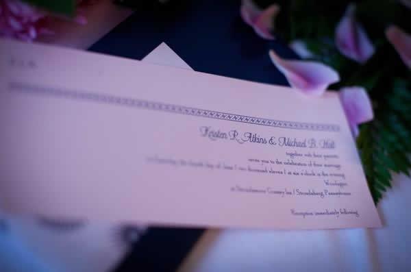 Stroudsmoor Country Inn - Stroudsburg - Poconos - Real Weddings - Wedding Invite