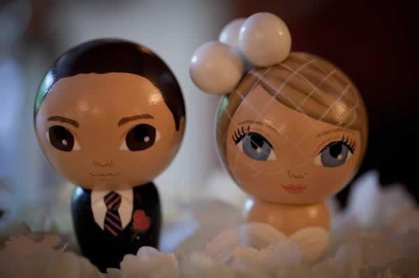 Stroudsmoor Country Inn - Stroudsburg - Poconos - Real Weddings - Bride And Groom Doll Cake Toppers