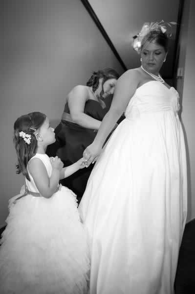 Stroudsmoor Country Inn - Stroudsburg - Poconos - Real Weddings - Bride Getting Help With Dress
