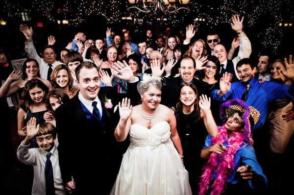 Stroudsmoor Country Inn - Stroudsburg - Poconos - Real Weddings - Bride With Guests