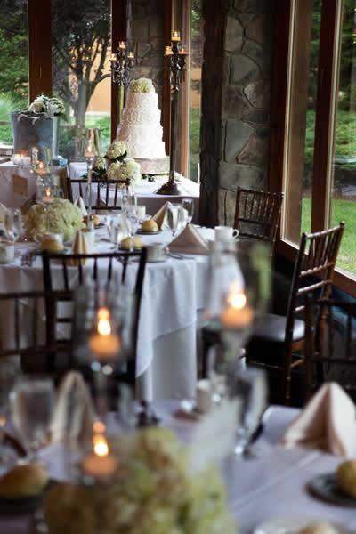 Stroudsmoor Country Inn - Stroudsburg - Pocono - Real Weddings - Candlelit Table Settings And Wedding Cake