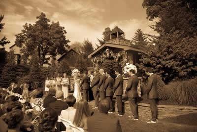 Stroudsmoor Country Inn - Stroudsburg - Poconos - Real Weddings - Bride, Groom, And Guests