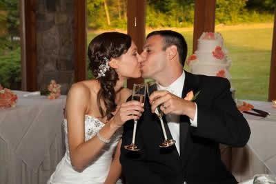 Stroudsmoor Country Inn - Stroudsburg - Poconos - Real Weddings - Bride And Groom Toasting