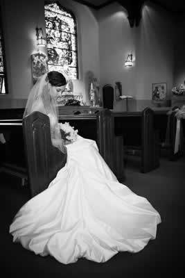 Stroudsmoor Country Inn - Stroudsburg - Poconos - Real Weddings - Bride In Chapel