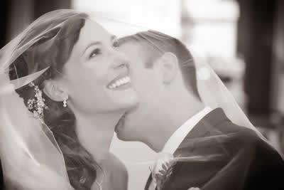 Stroudsmoor Country Inn - Stroudsburg - Poconos - Real Weddings - Groom Kissing Bride