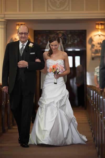 Stroudsmoor Country Inn - Stroudsburg - Poconos - Real Weddings - Bride Accompanied With Dad Down Aisle