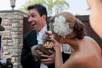 Stroudsmoor Country Inn - Stroudsburg - Poconos - Real Weddings - Bride And Groom With Monkey