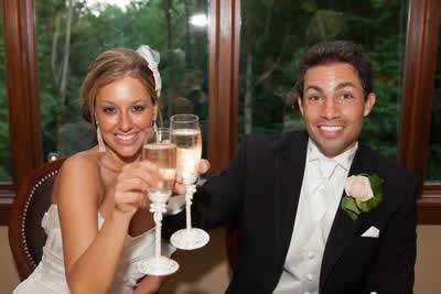 Stroudsmoor Country Inn - Stroudsburg - Poconos - Real Weddings -Bride And Groom First Wedding Toast