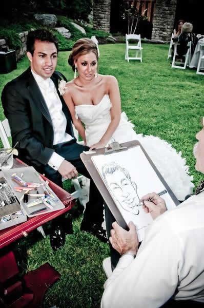 Stroudsmoor Country Inn - Stroudsburg - Poconos - Real Weddings -Bride And Groom Posing For Drawing