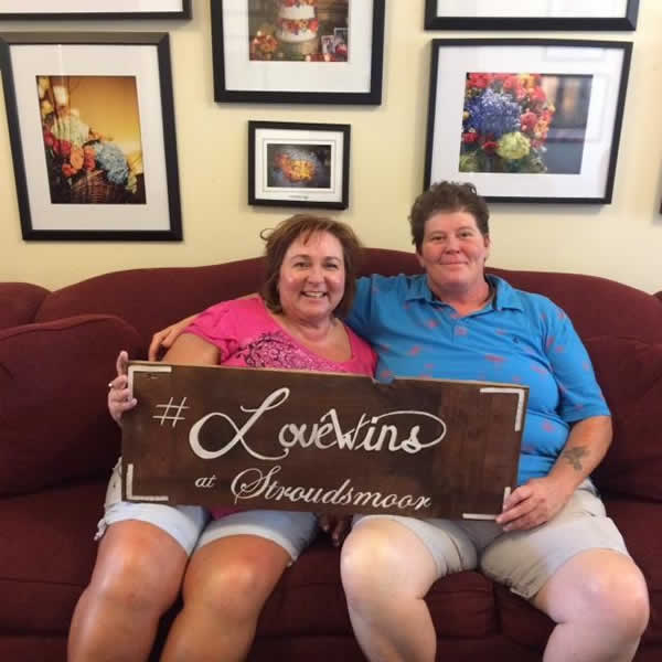 Stroudsmoor Country Inn - Stroudsburg - Poconos - Real Weddings - Contented Couple On Couch