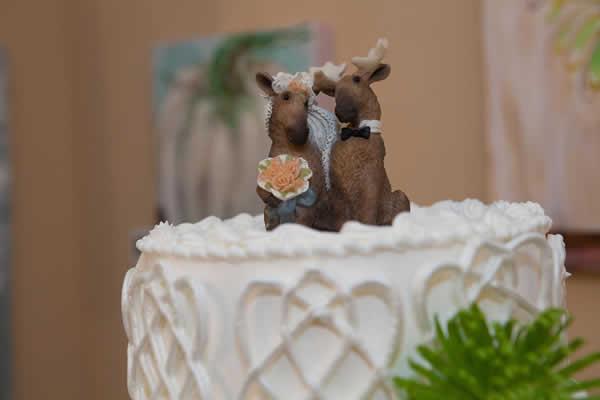 Stroudsmoor Country Inn - Stroudsburg - Poconos - Real Weddings - Wedding Cake With Cute Deer Topper