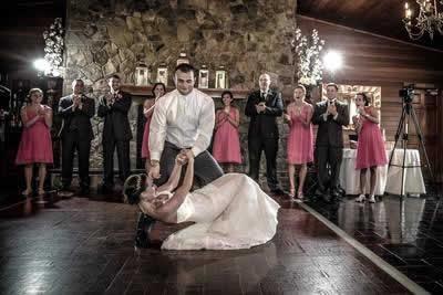 Stroudsmoor Country Inn - Stroudsburg - Poconos - Real Weddings - Groom Dipping Bride On Dance Floor