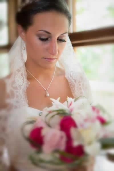 Stroudsmoor Country Inn - Stroudsburg - Poconos - Real Weddings - Bride With Bouquet